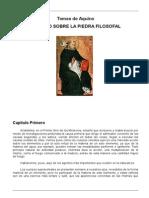 Aquino, Santo Tomas de - Tratado Sobre La Piedra Filosofal