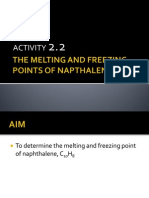 The Melting and Freezing Points of Napthalene