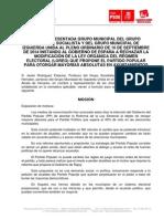 Moción de IU-PSOE Contra El Cambio de La Ley Electoral Para La Elección de Gobiernos Municipales