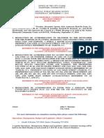 Special Public Hearing Notice September 17, 2014