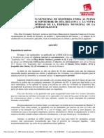 Moción de IU Relativa a Las Ventas de La EMV