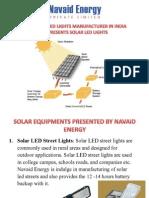 Solar LED Lights Manufacturer India