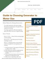 Guide to Choosing Generator to Motor Size _ REL