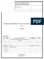 Method Statement for Claustra Block Works.