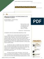 Análise Do Poema_ Autopsicografia de Fernando Pessoa