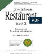 Savoirs Et Techniques de Restaurant Tome 2