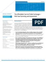 The Affordable Care Act Exchanges Mid-Year Summary and Assessment