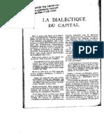 Hejenoort, La Dialectique Du Capital