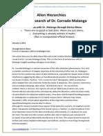 Alien Hierarchies Dr Corrado Malanga