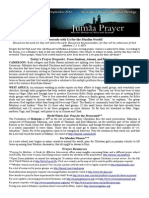 Jumaa Prayer Bulletin 12 September 2014