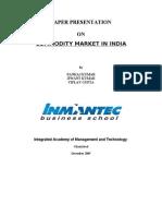 comodity market in india