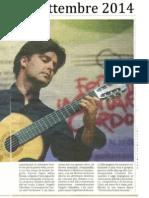 """[ITA] - La Nuova Sardegna - Boom di vendite per CD """"Gilardino 3 Concertos for guitar and orchestra"""""""