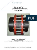 Tn-38 Bolt Torque Flanged Joints (1) (1) Torque HDPE