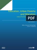 Urban Poverty Survey 2009