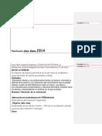 Planificación Clase Diaria 2014