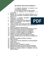 Guia Para El de Parcial Psicologia General II