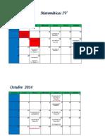 Calendario MIV O 2014