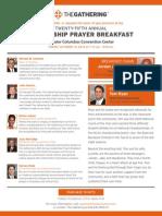 Leadership Prayer Breakfast Invite