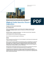 Highest Latin America Taxes