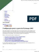 Configuração Passo a Passo Do Exchange 2003