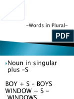 Words in Plural