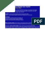 Definisi Efektivitas Eksplisit Dan Implisit