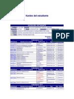 Kardex Del Estudiante
