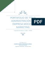 Plan de Marketing Cooperativa Capual 2014