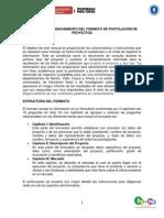Anexo 2. Manual de Diligenciamiento Del Formato de Postulacion de Proyectos