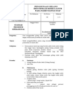 139718253 SPO Penggunaan Gelang Identifikasi Risiko Jatuh Pada Pasien