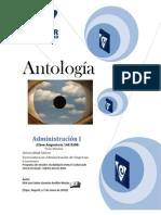 Antologia de Administracion I LAE 0206 Matutino II Cuatri. Ene-May10 (4)