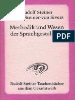 GA 280 - METHODIK & WESEN  DER  SPRACHGESTALTUNG - RUDOLF  STEINER