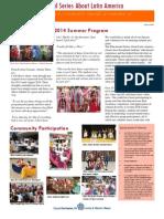 2014 Summer Program Review