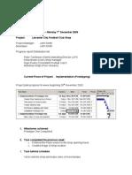 Progress Report LCFC Shop 4th December 2009 Adapted