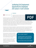 Facilitating Full Employment Opportunity for Employees with Cancer