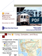 Operations Ridership Infrastructure
