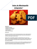 Galletas de Mantequilla Integrales