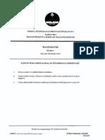 Trial Kedah 2014 SPM Matematik K1 Dan Skema [SCAN]