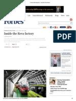 Forbes India Magazine - Inside the Reva Factory