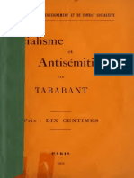 Tabarant Adolphe - Socialisme Et Antis'Mitisme