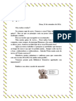 Carta de Benvida de Raticonto. Curso 2014-2015.