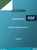 Cartilla - Definicion Catalogo de Terceros