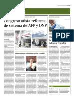 Congreso Alista Reforma de Sistema de AFP y ONP_Gestión 11-09-2014