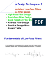 Active Filter Design Techniques