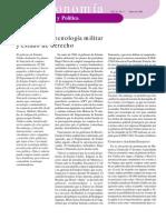 Geopolitica, Tecnologia Militar y Estado de Derecho