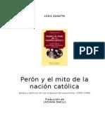 Loris Zanatta - Peron y El Mito de La Nacion Catolica