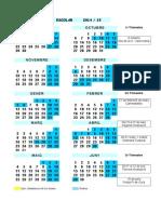 Calendari Escolar 14-15