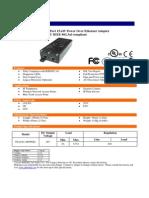 Inyector PoE 48V