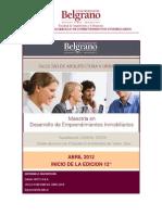 Maestría en Desarrollo de Emprendimientos Inmobiliarios 12° Edición