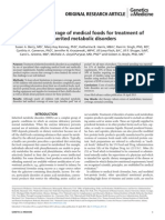 Insurance Coverage of Medical Foods for Treatment of Inherited Metabolic Disorders